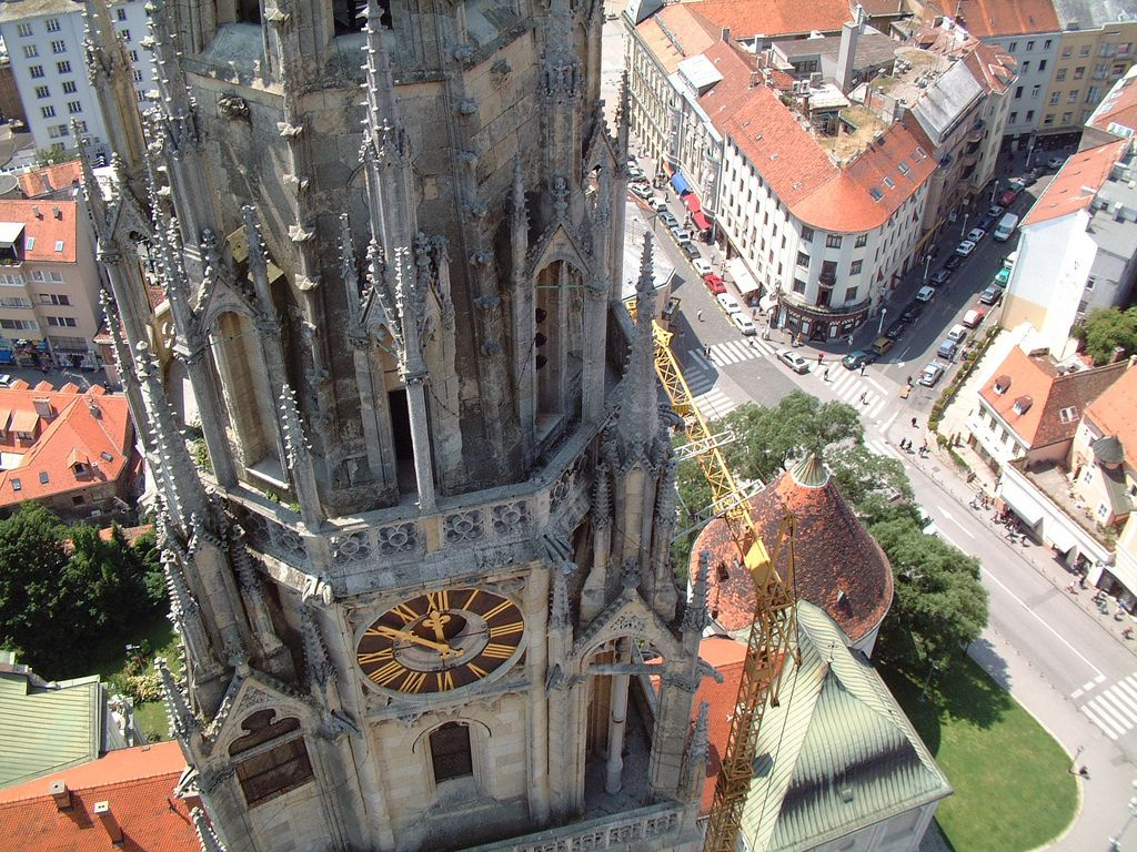 Birdseye View On Cathedral Zagreb Croatia Lobagolabnb Visit Zagreb Zagreb Croatia Capital City