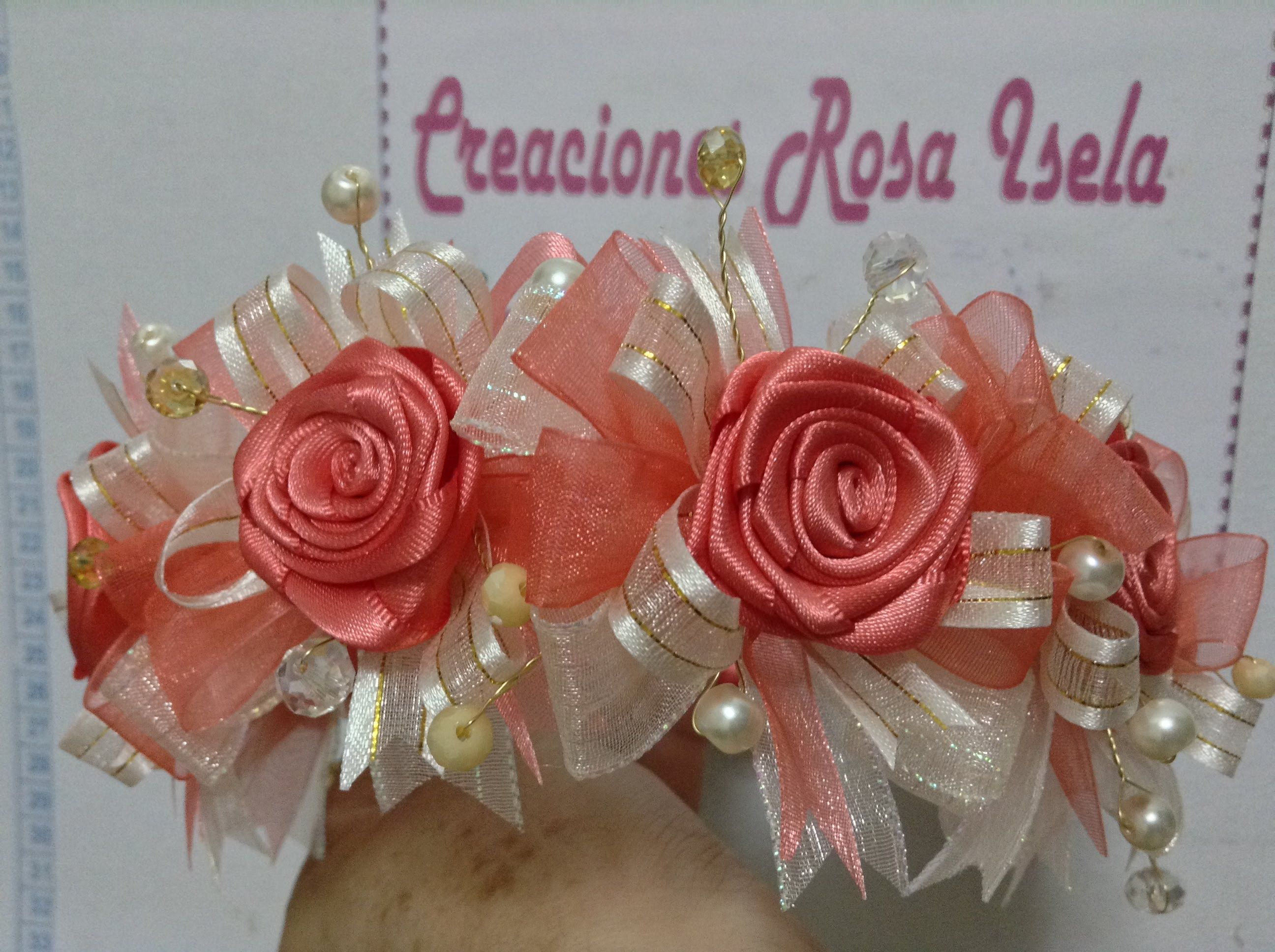 Diadema para vestido de fiesta de ni a video no 143 diademas pinterest hair bow - Diademas para ninas ...
