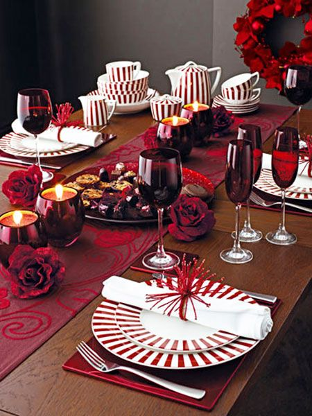 Christmas Table Ideas Decorating With Red And White Christmas Dinnerware Christmas Dinnerware Sets Christmas Dining