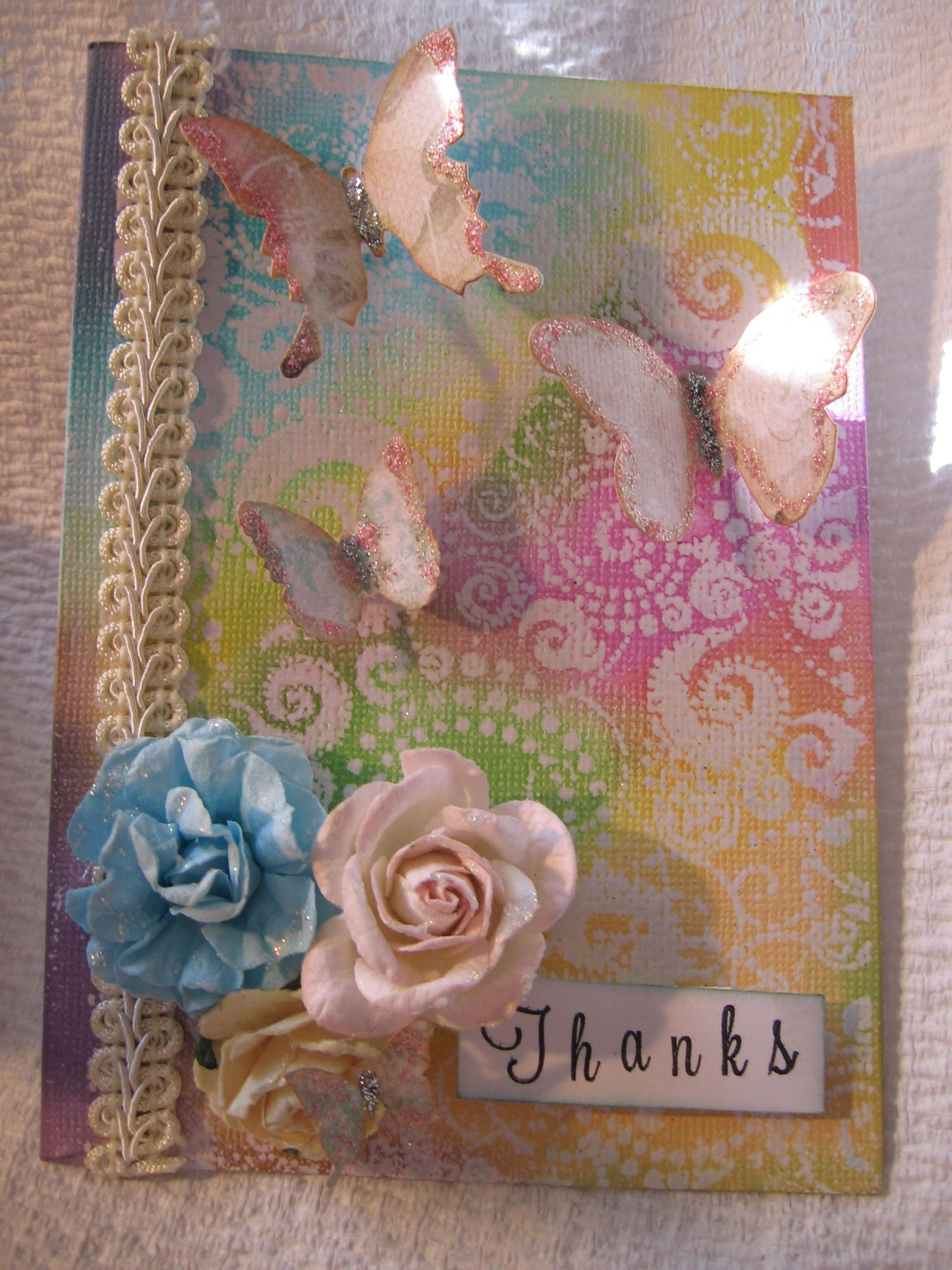 Embossed Mixed Media Card http://www.angeldreamcrafts.blogspot.ca