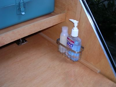 Use small shower caddy to corral dish soap and hand sanitizer ...