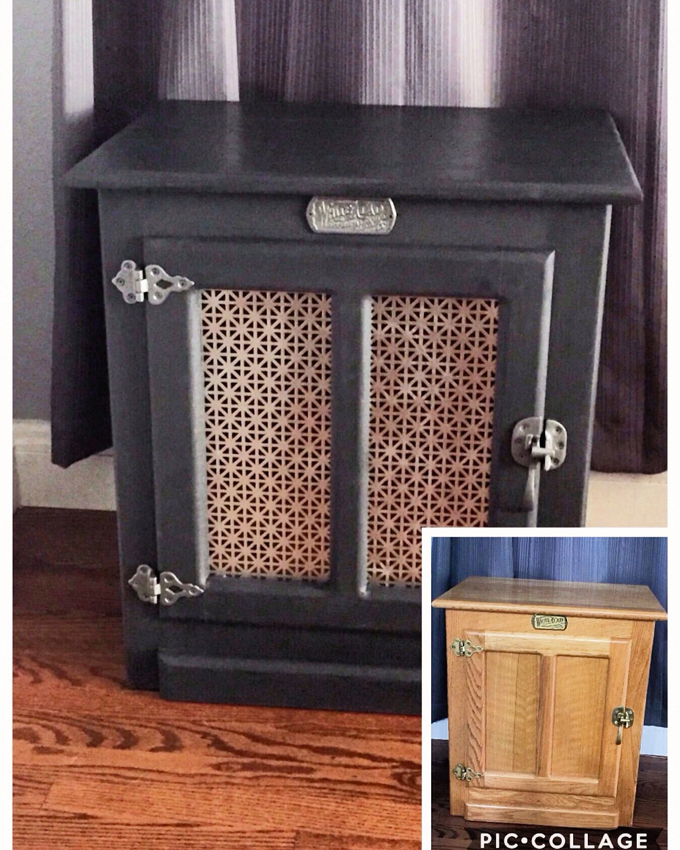 Diy Icebox Table Makeover With Annie Sloan Chalk Paint Table Makeover Diy Table Makeover End Table Makeover