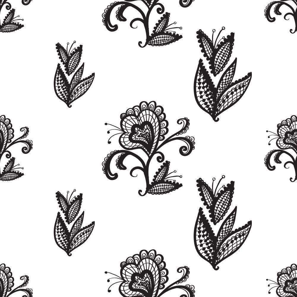 Papel de Parede Floral 1856