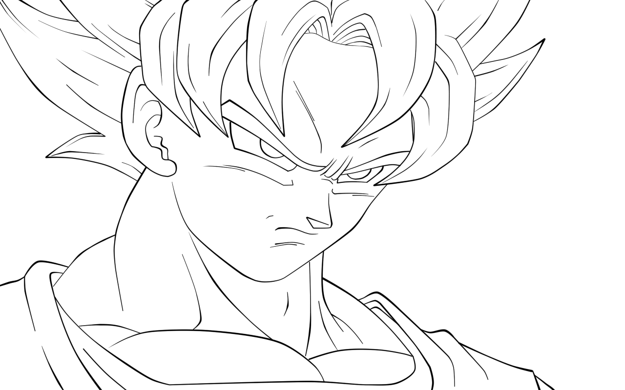 Goku Coloring Pages Coloring Pages To Print Goku And Gohan