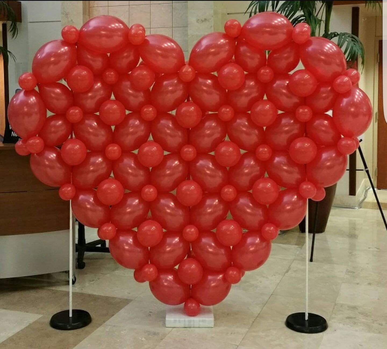 сердце из шаров своими руками в картинках правильно