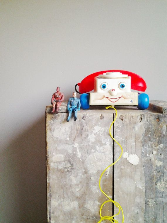 Vintage Fisher Price Kids Telephone Childrens Toy by CocoAndBear
