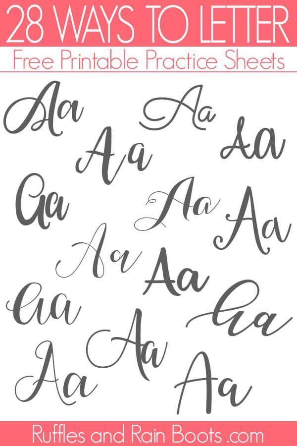 Photo of Möglichkeiten zum Schreiben von Buchstaben A – Übungsblätter zum Freihandbeschriften
