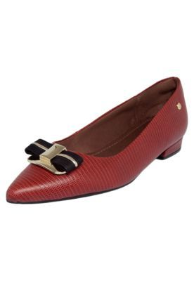 3b8c9ee10 Sapatilha Usaflex Bico Fino Vermelho | Shoes | Sapatilhas femininas ...