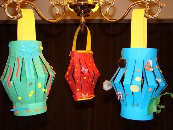 colorful paper lanterns Chinese New Year decoration ideas ...