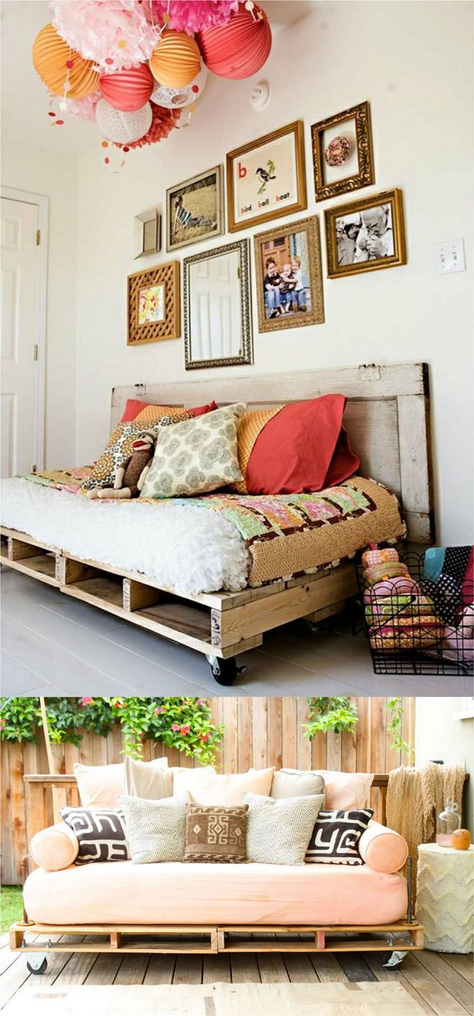 One Sofa Small Living Room Decor: 12 Easy Pallet Sofas And Coffee Tables To DIY In One
