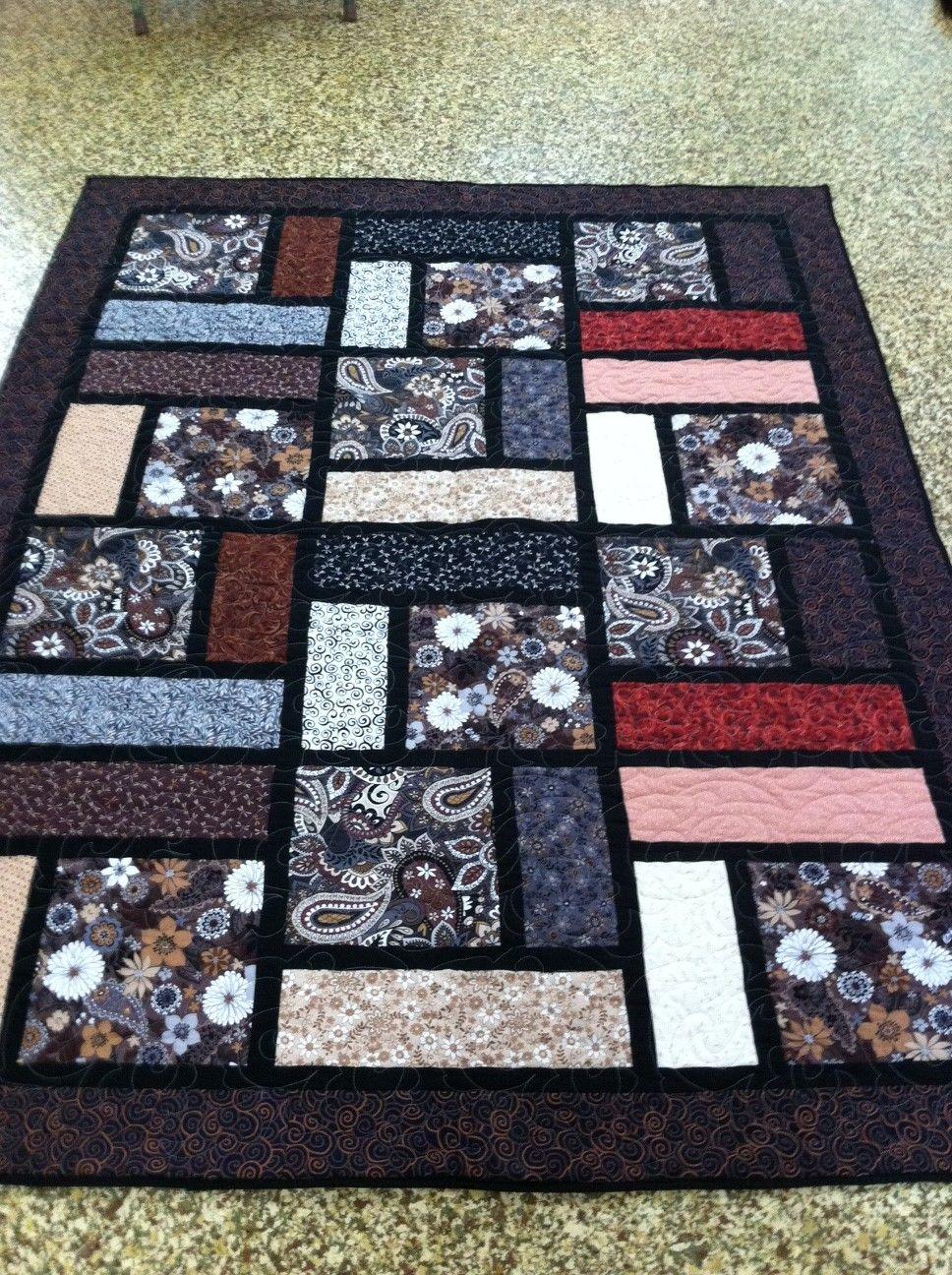 Quilt Patterns For Large Print Fabrics : quilt, patterns, large, print, fabrics, Throw, Quilts,, Block, Quilt, Patterns
