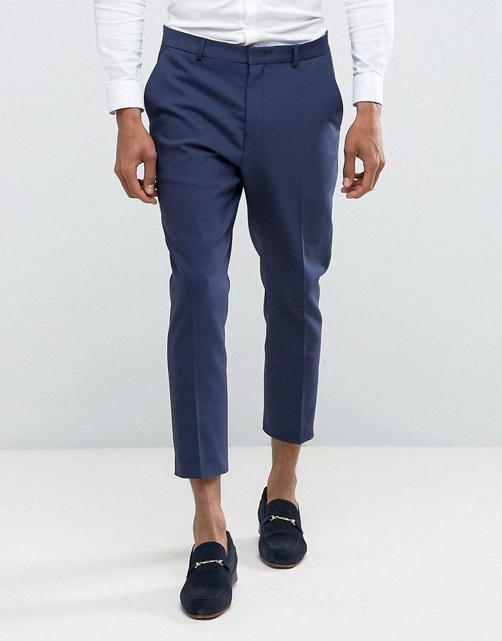 7043127dbf ... trousers for men at best price. ASOS Wedding Tapered Suit Trouser In  Navy