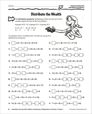 Printables Distributive Property Worksheets 5th Grade distributive property worksheet 5th grade versaldobip versaldobip
