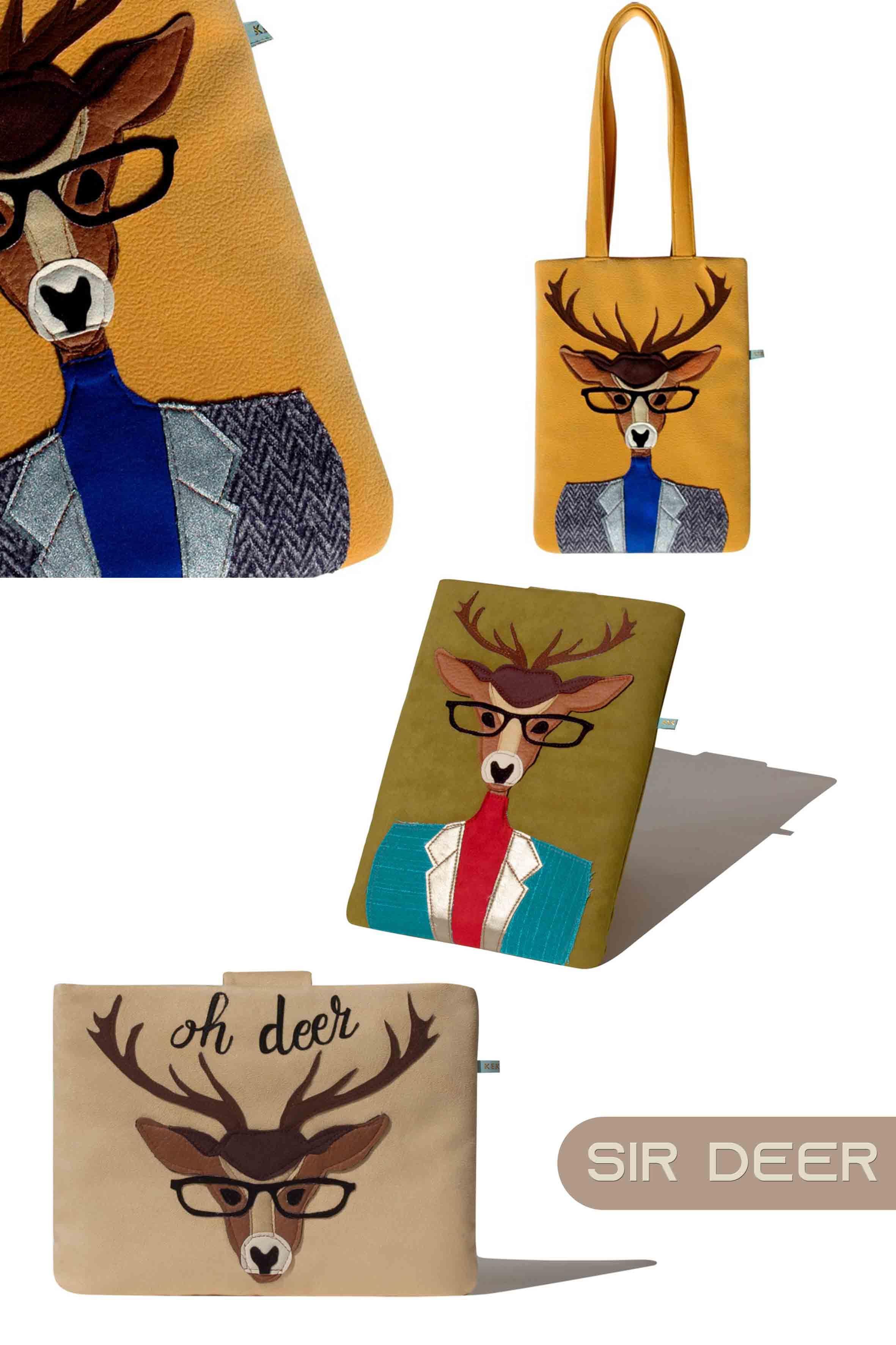 Sir Deer Handmade Kekoyu Bags Deer Reindeer Antlers Buckhead Stagshead Deerface Roe Horns Doe Bambi D Fashion Kids Shoes Bags Trendy Winter Fashion