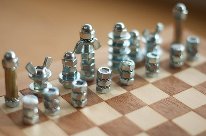 diy chess board and pieces fun amp games pinterest