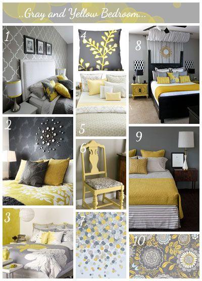 الرمادي والأصفر سحر لاينتهي Bedroom Makeover Yellow Bedroom Remodel Bedroom