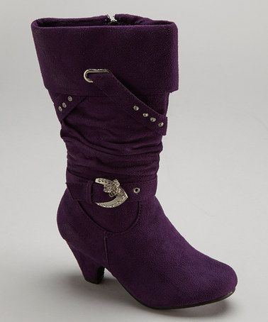Look at this #zulilyfind! Purple Fold-Over Buckle Boot by Lucky Top #zulilyfinds