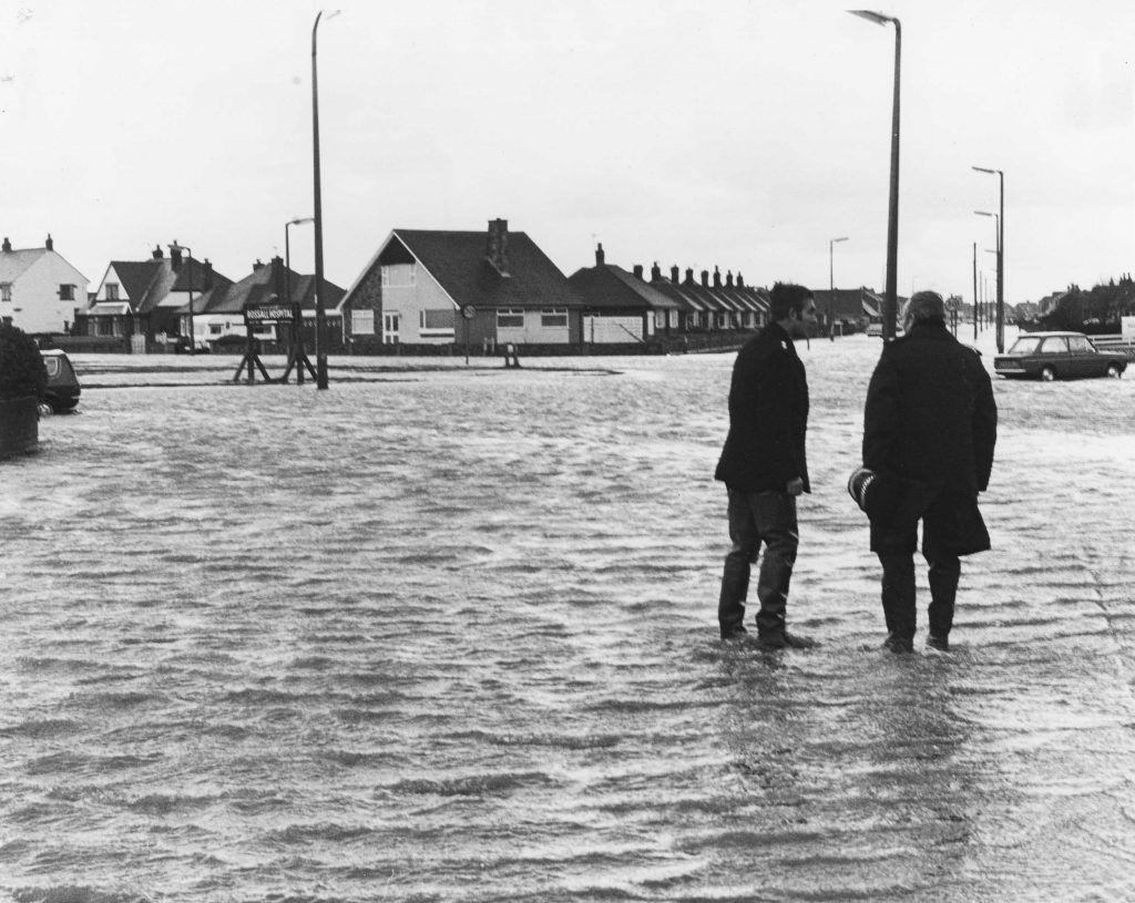 Flooding in in 2020 Irish sea, Fleetwood, Flood