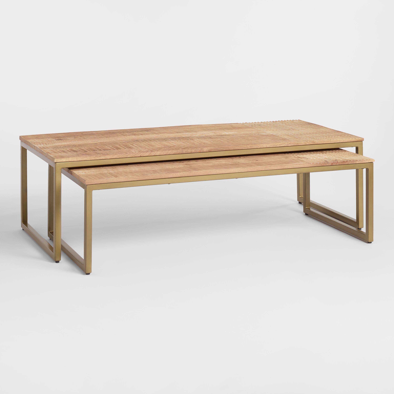 Best Mango Wood Lara Nesting Coffee Tables Set Of 2 Nesting 400 x 300