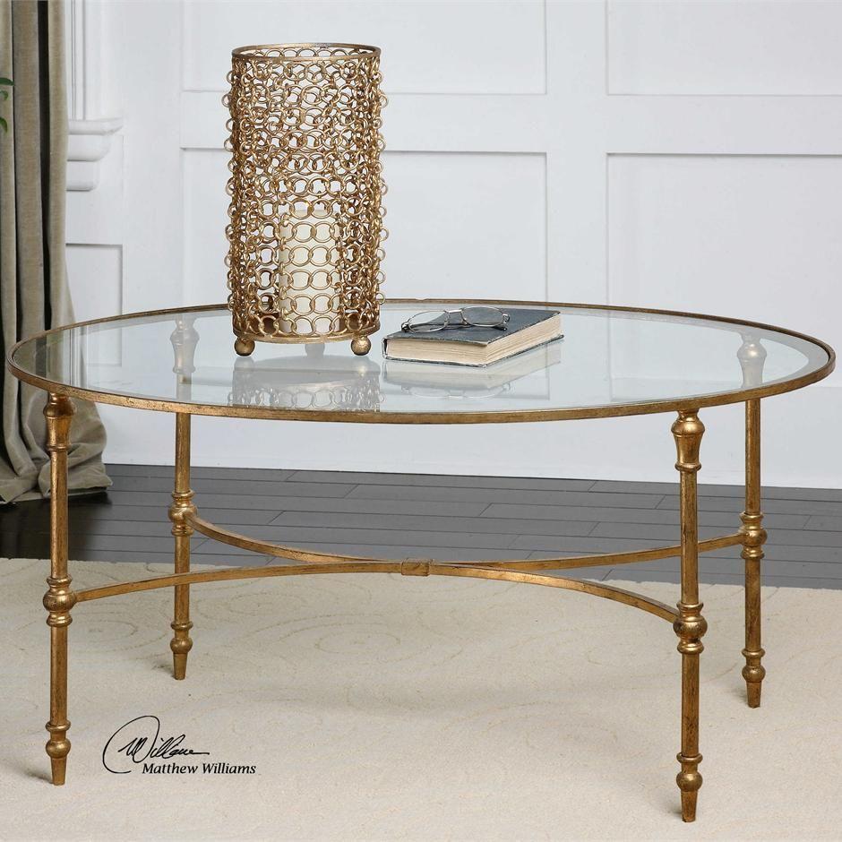 Vitya Oval Gold Leaf Coffee Table In 2021 Coffee Table Gold Coffee Table Oval Glass Coffee Table [ jpg ]