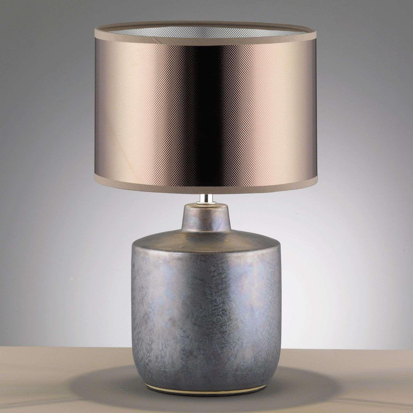 Tischleuchte Lino Gold Mit Keramikfuss Hohe 37 Cm Tischleuch