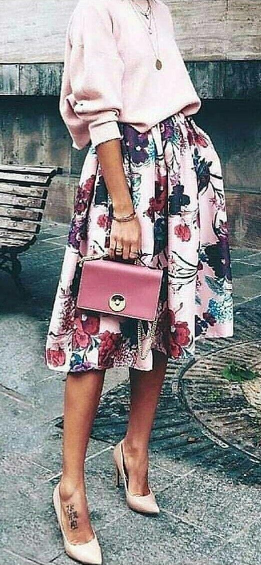 #winter #outfits white, black, and red midi skirt