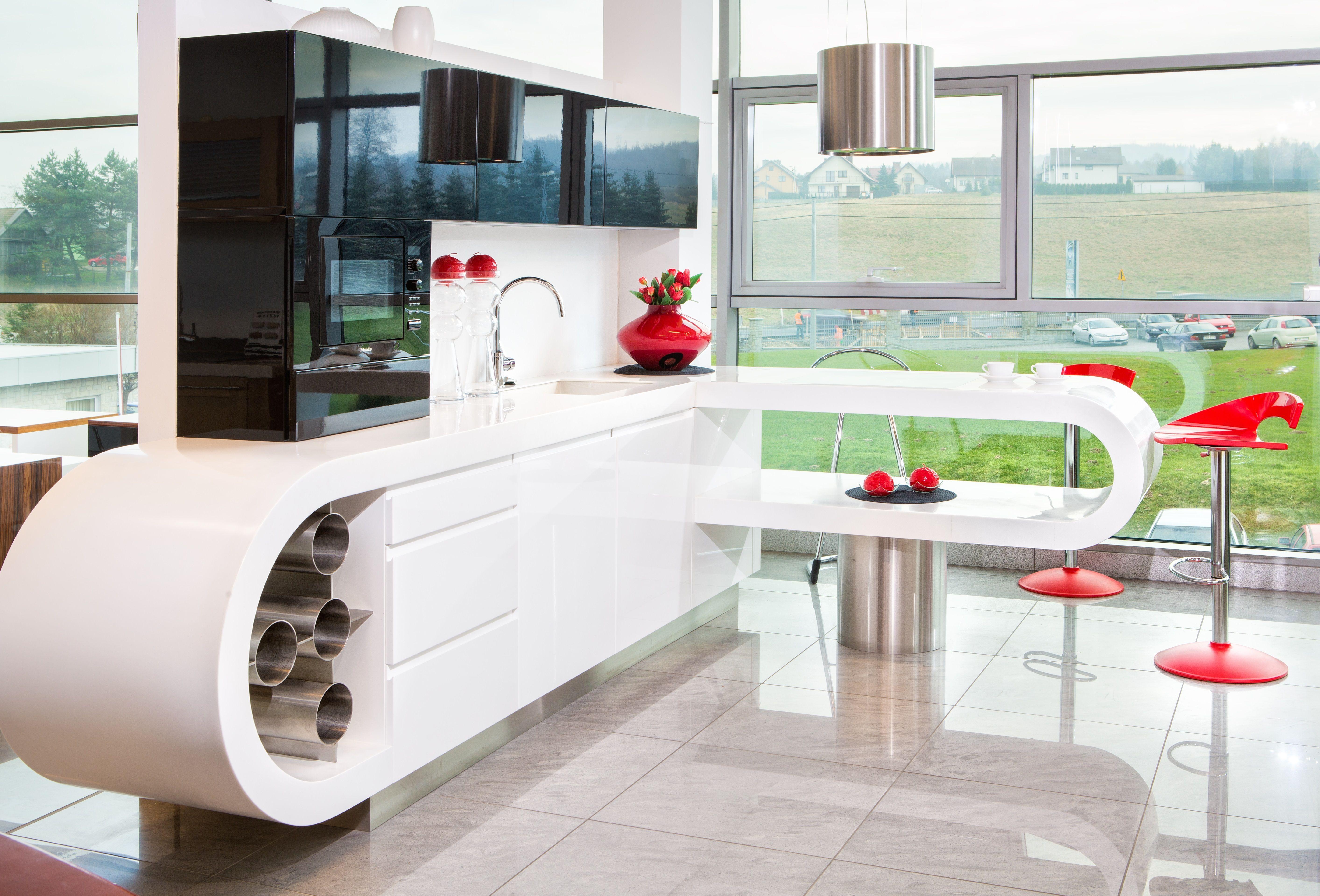Kuchnia Czarno Biala Lakierowana Wysoki Polysk Decor Home Decor Furniture