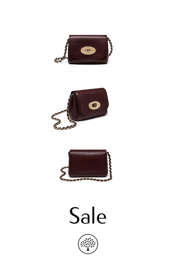 6098604bc42b Shop the Mini Lily in Oxblood Natural Leather at Mulberry.com.  Miniature-sized