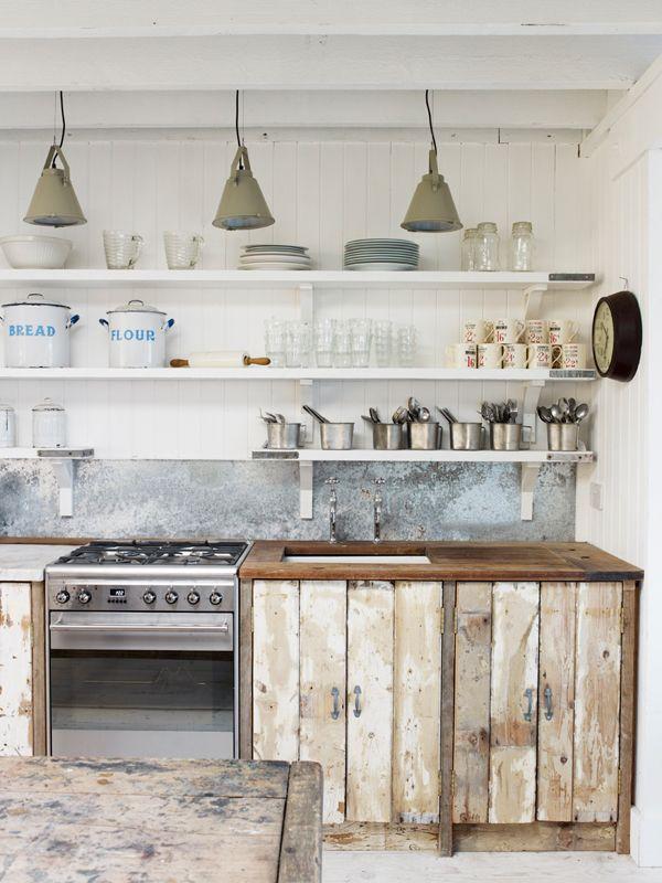 Cocina Madera Reciclada Recicled Wood Kitchen