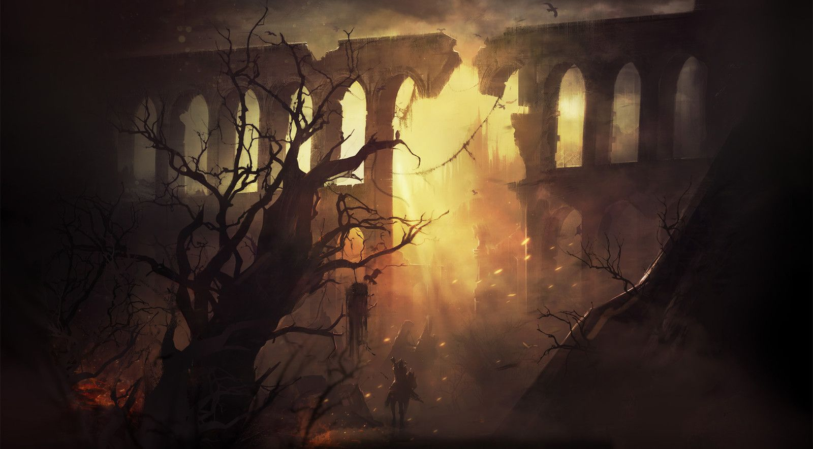 Ruins, Illia Tsiushkevich on ArtStation at https://www.artstation.com/artwork/QL5k8