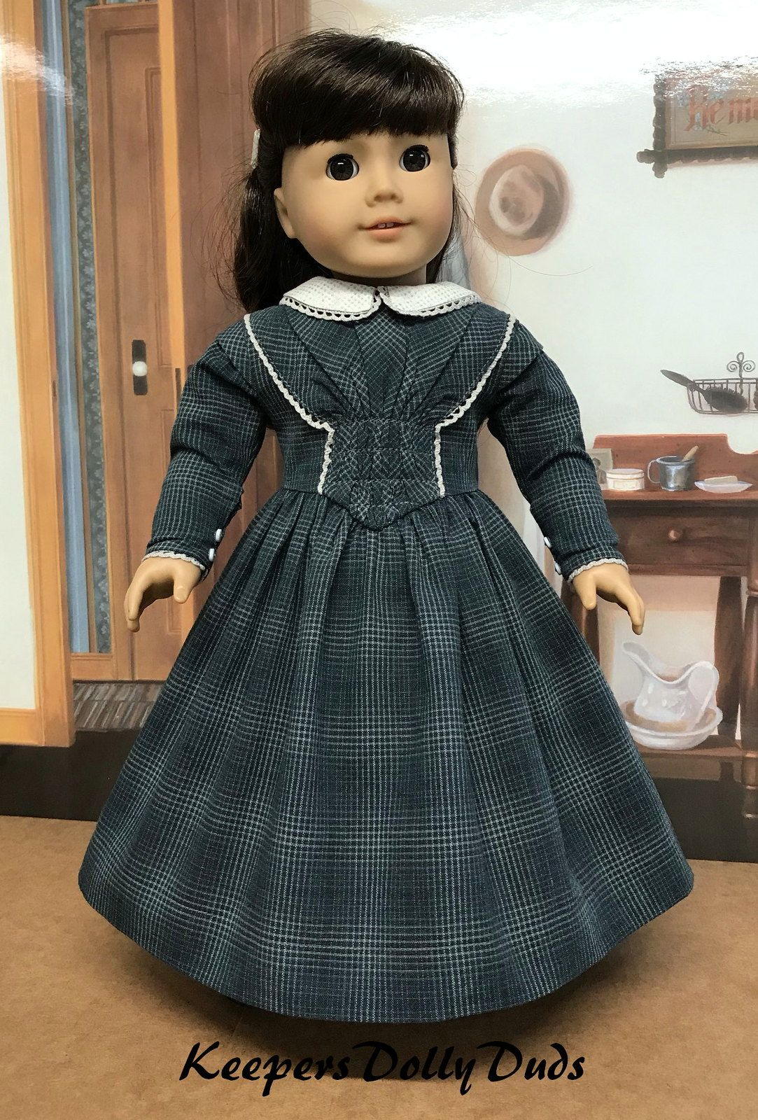 1845-50 Ladies Dress fits American Girl Dolls #historicaldollclothes