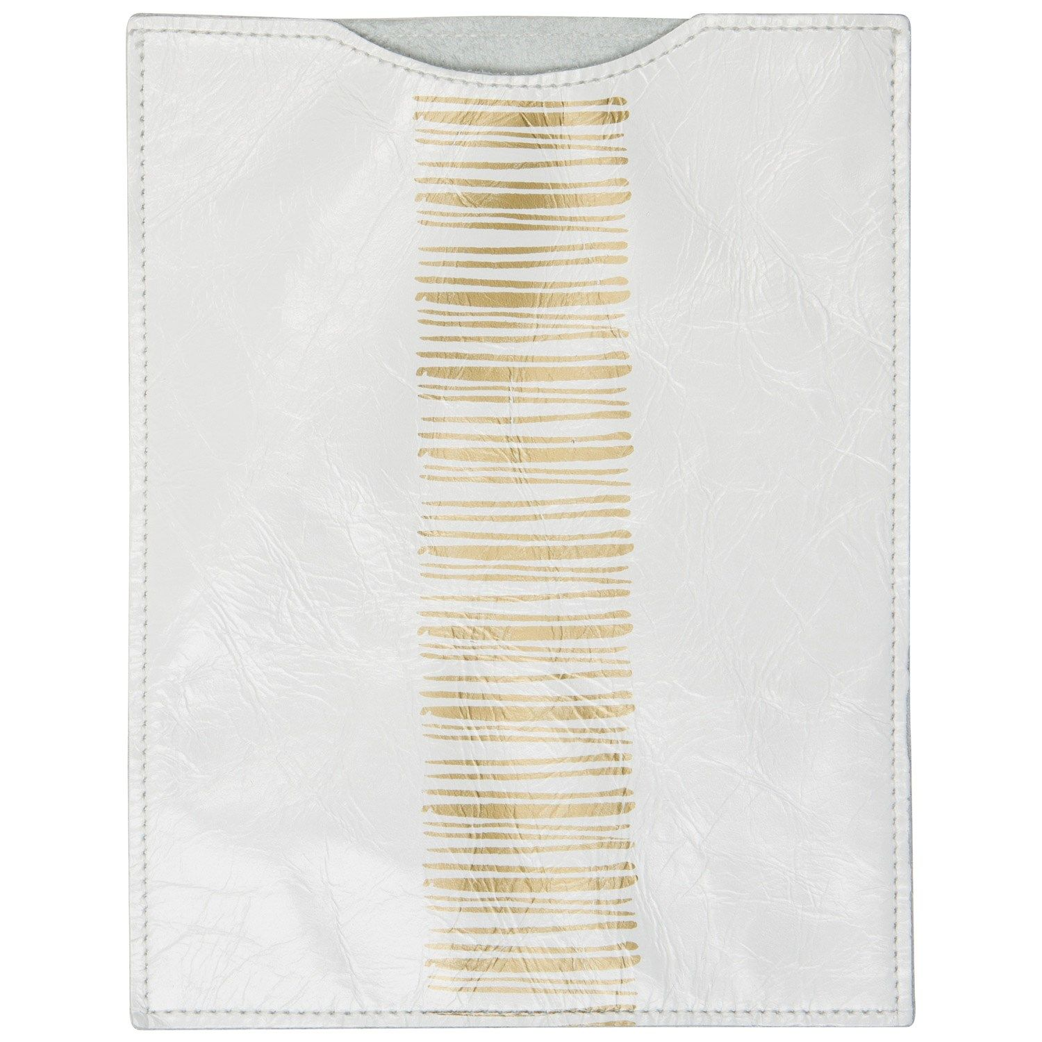 White Gold Stripe Ipad Sleeve Sarah Nasafi Grayce Laylagrayce  # Muebles Lira Gold