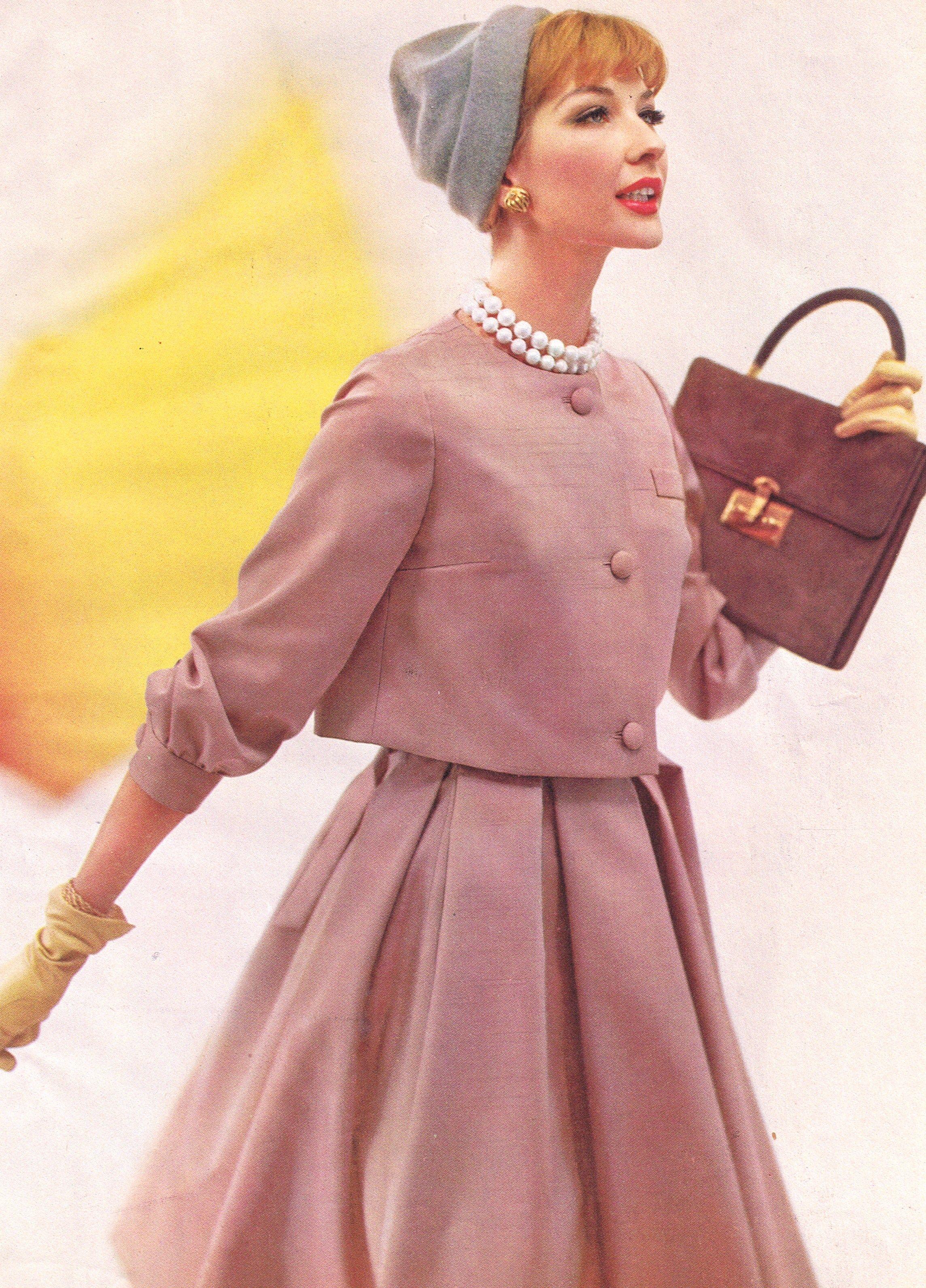 vogue 1959 50 39 s glam pinterest kleid 50er 50er mode. Black Bedroom Furniture Sets. Home Design Ideas