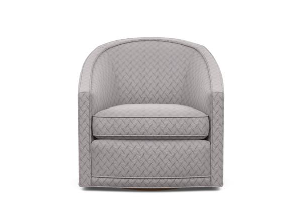 Baylee BarrelBack Swivel Chair, Upholstered in 2020