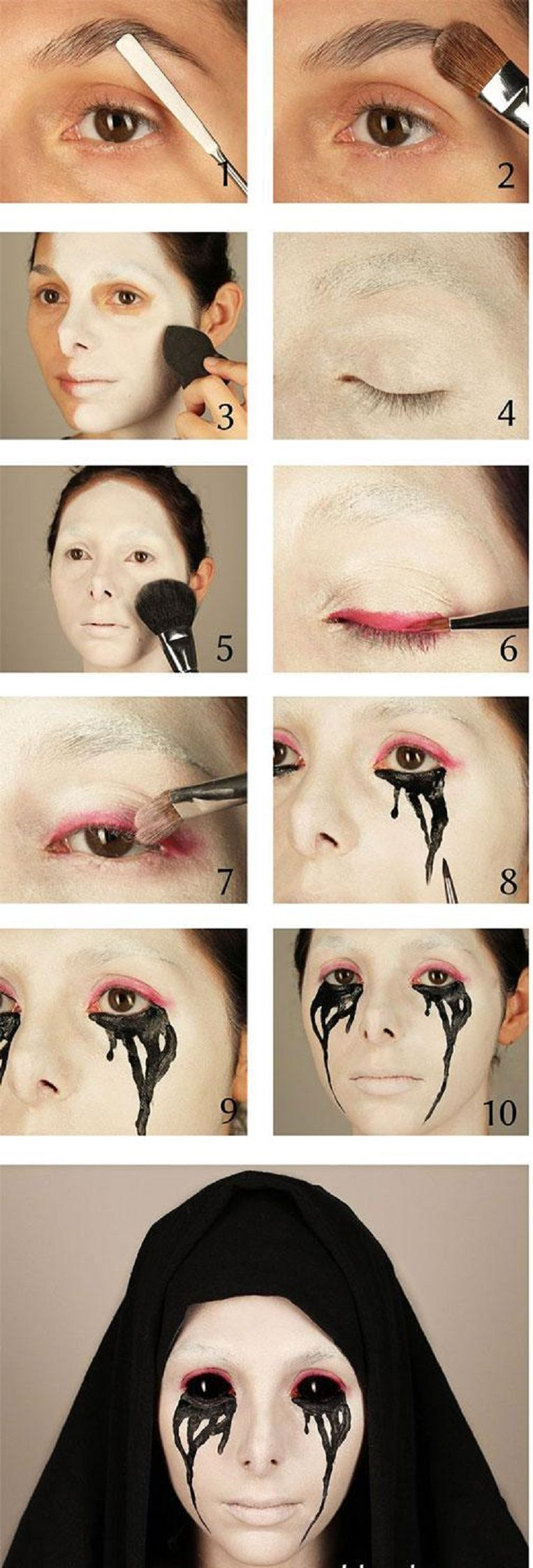 Halloween makeup tutorial scary makeup 12 best diy halloween halloween makeup tutorial scary makeup 12 best diy halloween makeup tutorials gleamitup baditri Image collections