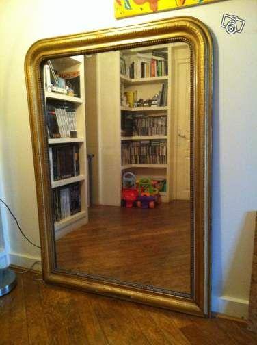 grand miroir ancien cadre en dorure d coration hauts de seine recup meubles. Black Bedroom Furniture Sets. Home Design Ideas