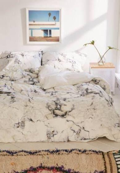 Marble Comforter Queen Dorm Room Bedding Marble Duvet Cover