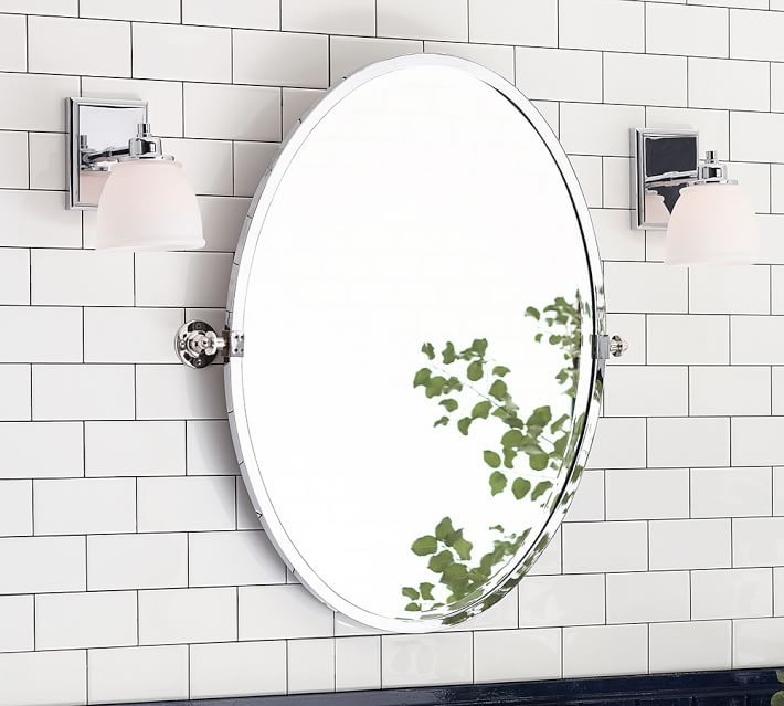 Kensington Oval Pivot Mirror Bathroom Mirror Oval Mirror