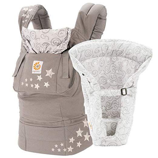 Ergobaby Original 3 Position Bundle of Joy Baby Carrier /&Insert In Galaxy Grey