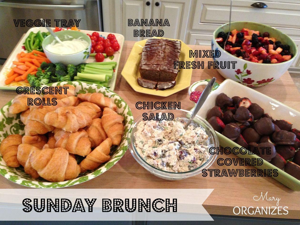 Famous Bridal Shower Brunch Menu: Lunch & Snacks