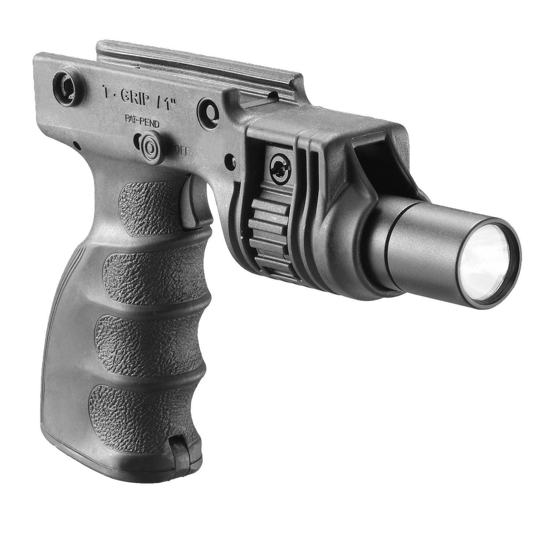 "FAB Defense Tactical Ergonomic Grip w/ 1"" Flashlight"