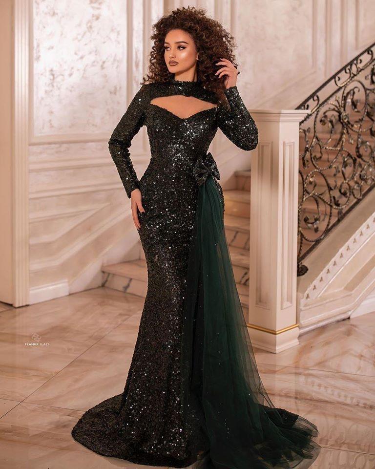 Elegante Abendkleider Lang Glitzer | Abiballkleider mit ...