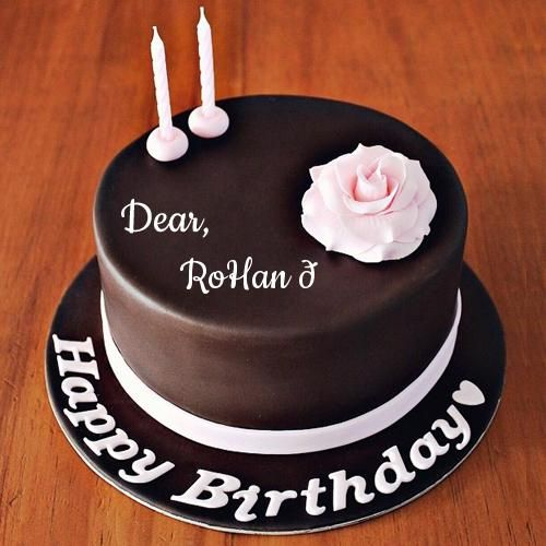 Happy Birthday Chocolate Rose Cake With Friend Name Ranjan Empire