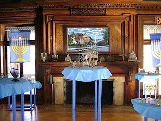 Inside Hanukkah House Museum (Kilmer Mansion), Binghamton, New York