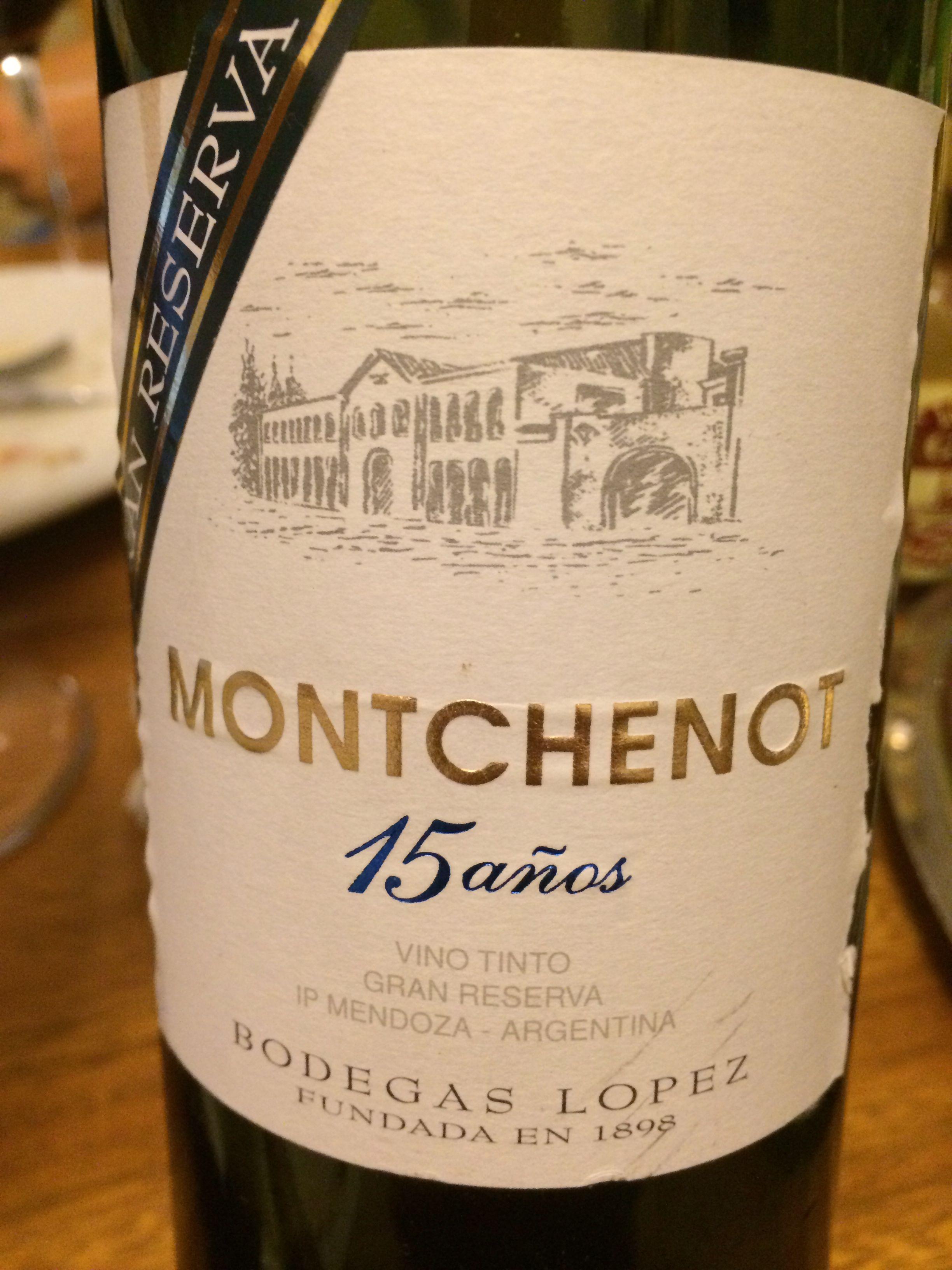Montchenot 15 años - Blend - 1992 - Lopez - Mendoza, Argentina