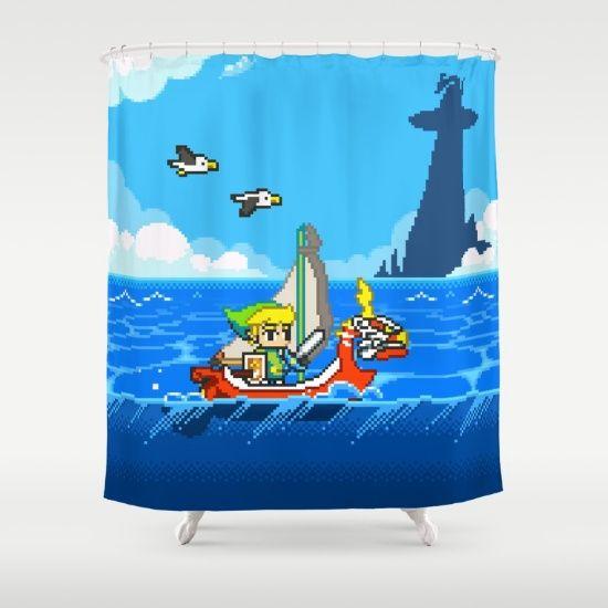 The Legend Of Zelda Wind Waker Advance Shower Curtain Legend Of