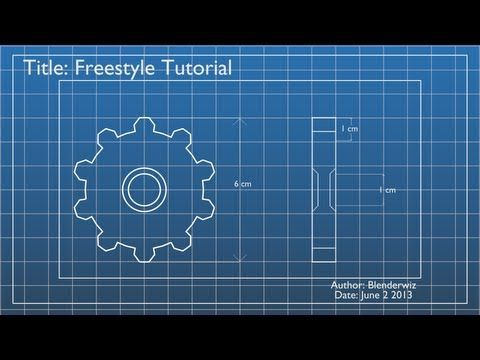 freestyle tutorial youtube great clear tut on freestyle render render in blueprint style in blender malvernweather Images