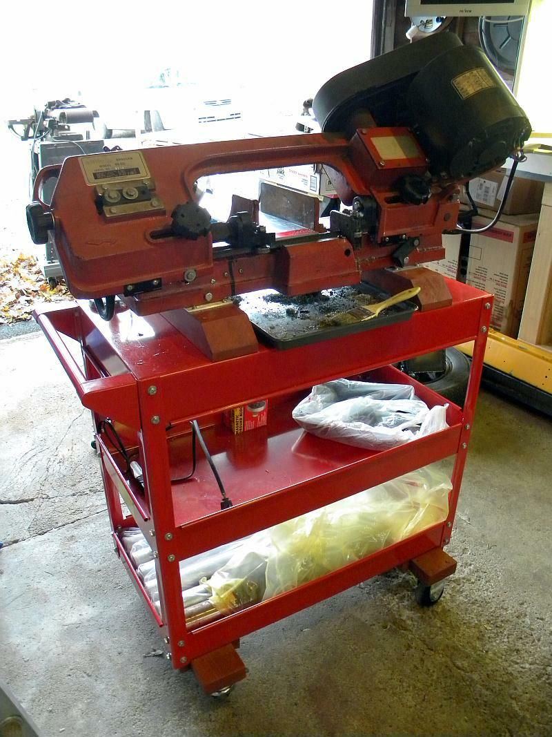 harbor freight bandsaw stand. 4x6 bandsaw stand using harbor freight service cart