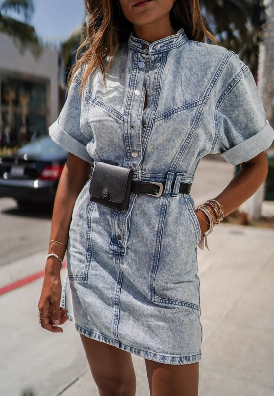 12 Denim Mini Dresses To Wear This Spring -   18 denim dress Winter ideas