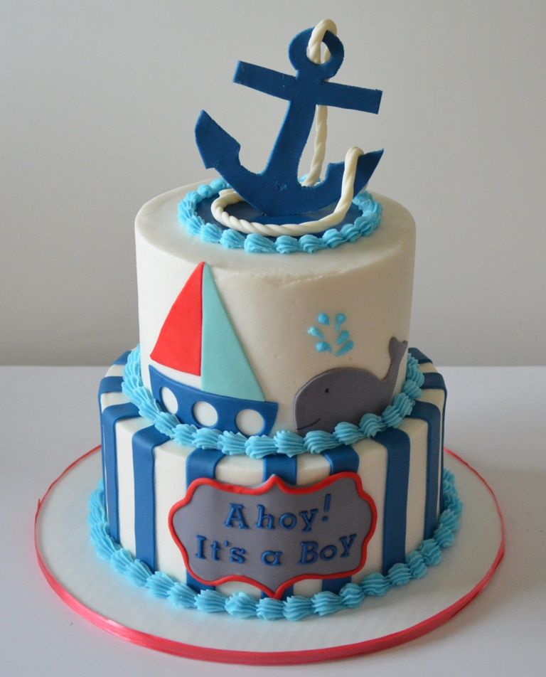 Boys Baby Shower Cake: Ahoy! It's A Boy Cake